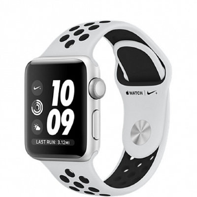 Умные часы Apple Watch Nike+ 42mm Silver Platinum  Black Band