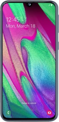 Смартфон Samsung Galaxy A40 4/64Gb (черный)